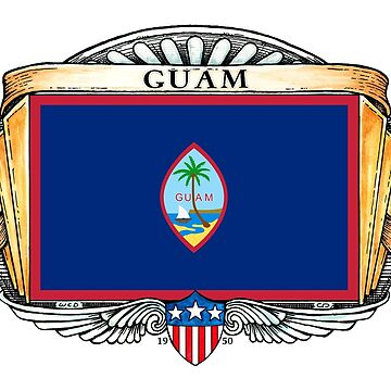 Guam Art Deco Design with Flag by Cleave