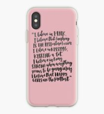 Audrey Hepburn Pink Quote iPhone Case