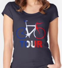 Next Tour in France Cycling and Cisclistas Women's Fitted Scoop T-Shirt