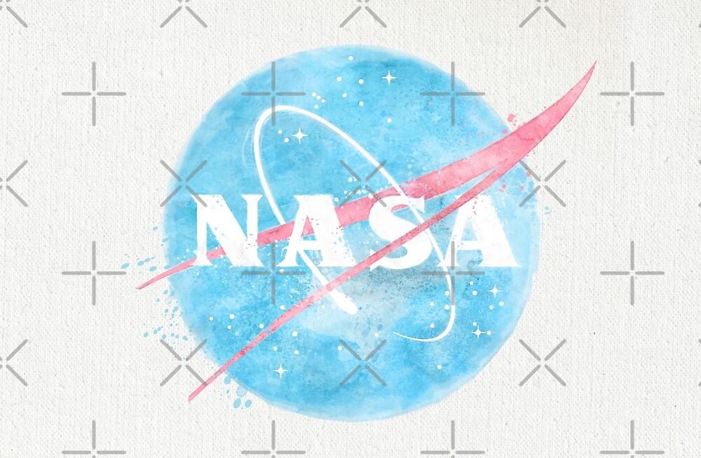 USA Space Agency Vintage Watercolors by Lidra