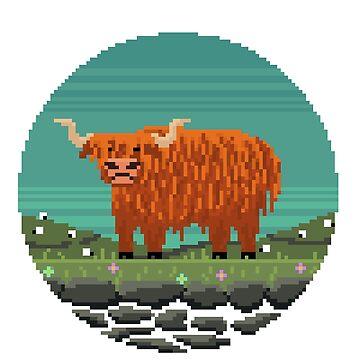 Highland Cattle by Pixel-Bones