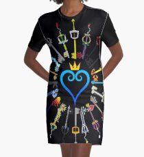 Kingdom Hearts Keyblades Graphic T-Shirt Dress