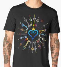 Kingdom Hearts Keyblades Men's Premium T-Shirt