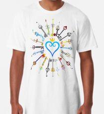 Kingdom Hearts Keyblades Long T-Shirt