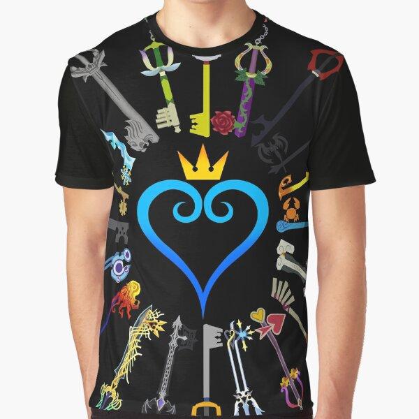 Kingdom Hearts Keyblades Graphic T-Shirt