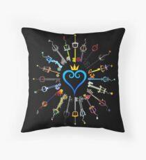 Kingdom Hearts Keyblades Throw Pillow
