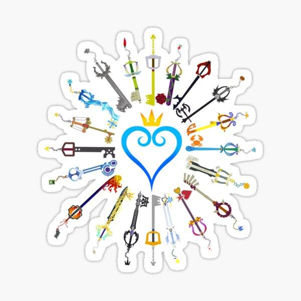 Kingdom Hearts Keyblades Sticker