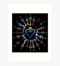 Kingdom Hearts Keyblades Art Print