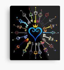 Lámina metálica Llaveros de Kingdom Hearts