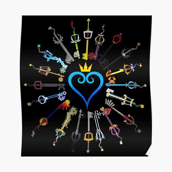 Kingdom Hearts Keyblades Poster