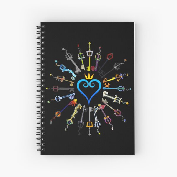 Kingdom Hearts Keyblades Spiral Notebook