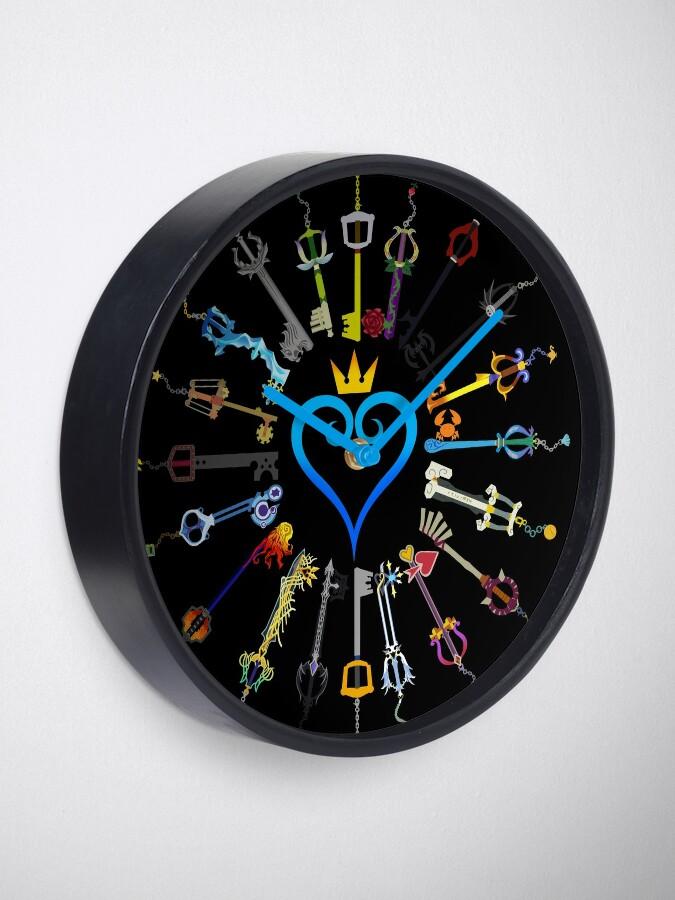 Alternate view of Kingdom Hearts Keyblades Clock