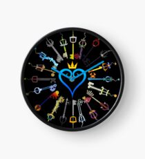 Kingdom Hearts Keyblades Clock