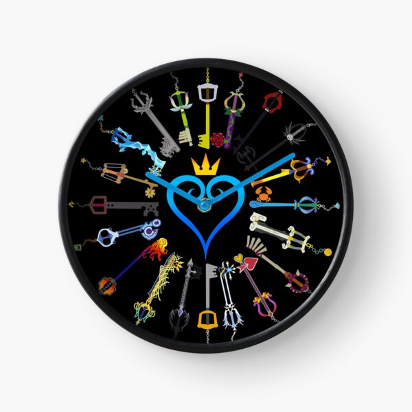 Kingdom Hearts Keyblades Clock