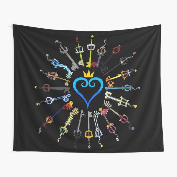 Kingdom Hearts Keyblades Tapestry