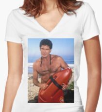 The Hoff - Baywatch Women's Fitted V-Neck T-Shirt