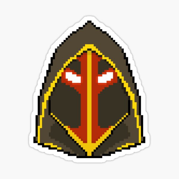 Judgement helm pixel art Sticker