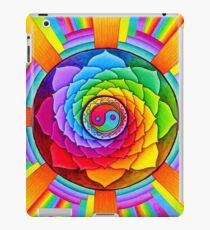 Healing Lotus Rainbow Yin Yang Psychedelic Mandala iPad Case/Skin