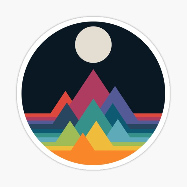 Whimsical Mountains Sticker
