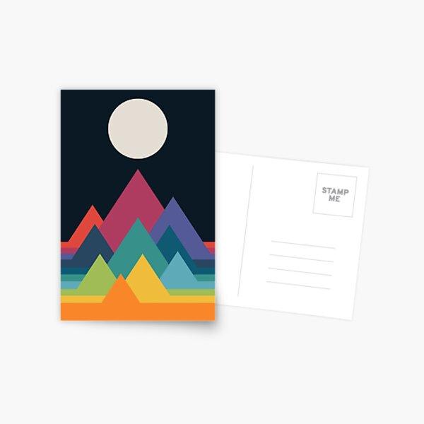 Whimsical Mountains Postcard