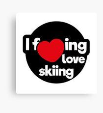 I love skiing Canvas Print