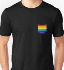 Rainbow Pocket LGBT Pride Unisex T-Shirt