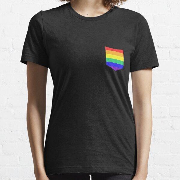 Sounds Gay I/'m In Crop Top Queer Lesbian Bi Bisexual Pride Rainbow Tee Shirt