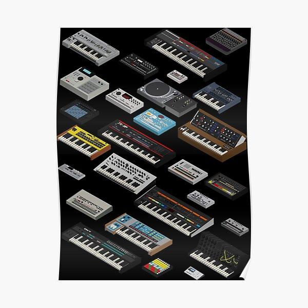 Collection de fans de synthétiseurs Poster
