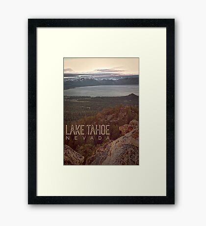 View of Lake Tahoe from Castle Rock Framed Print