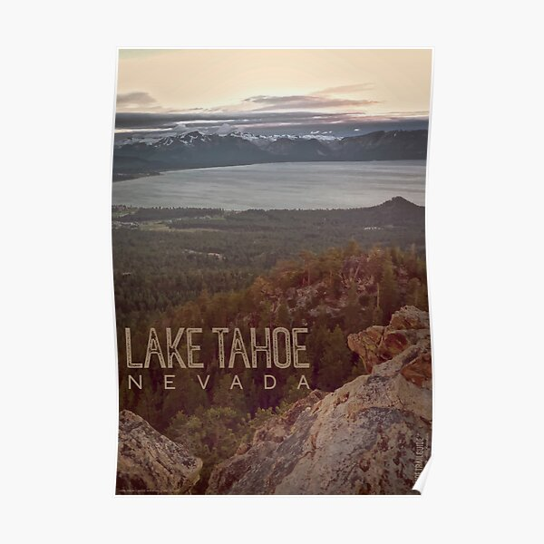 View of Lake Tahoe from Castle Rock Poster