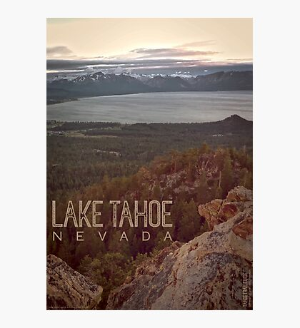 View of Lake Tahoe from Castle Rock Photographic Print