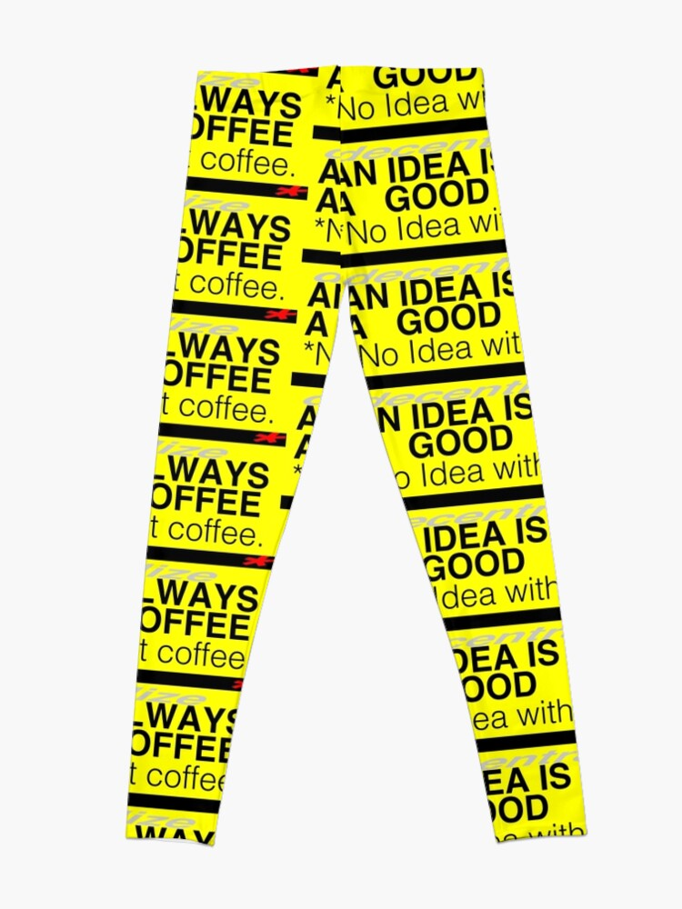 Alternate view of COFFEE IDEA *decentralized Leggings