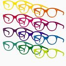 Audrey Hepburn pop art glasses by 28andsunny