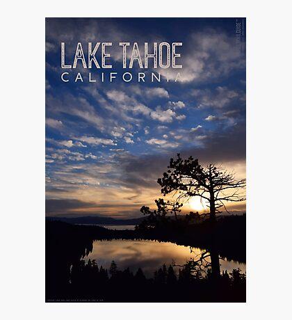 Sunrise at Cascade Lake and Lake Tahoe Photographic Print