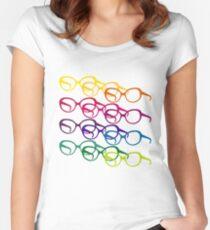 Sofia Loren Pop-Art-Brille Tailliertes Rundhals-Shirt