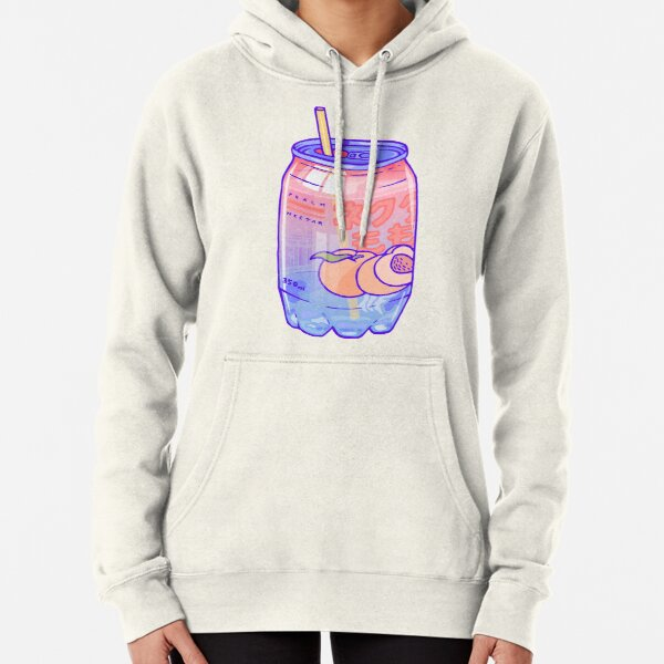 Peach Bubbles Pullover Hoodie