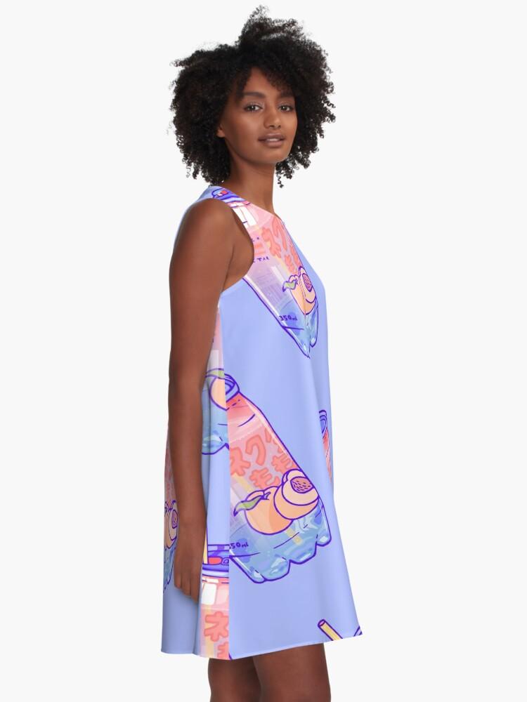 Alternate view of Peach Bubbles A-Line Dress