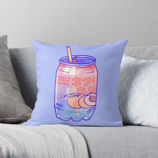 Peach Bubbles Throw Pillow
