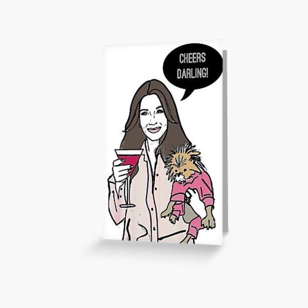 Cheers Darling Greeting Card