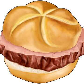 Bavarian meat loaf in bread roll by ARTemyzz