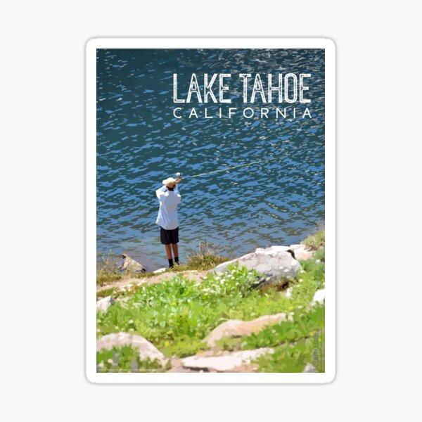 Fishing at Lake Tahoe Sticker