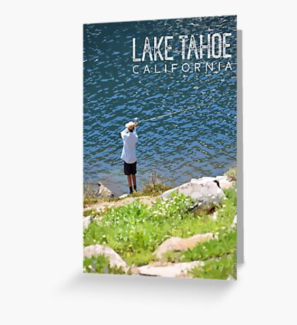 Fishing at Lake Tahoe Greeting Card