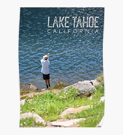 Fishing at Lake Tahoe Poster