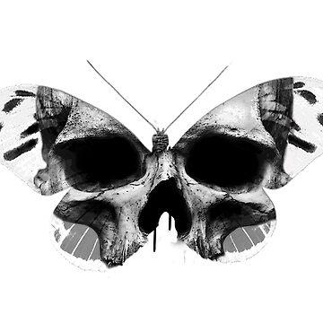 Fantasy bw butterfly skull by diana2266