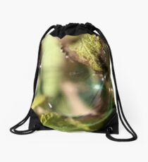 Bubble With A Leaf Drawstring Bag