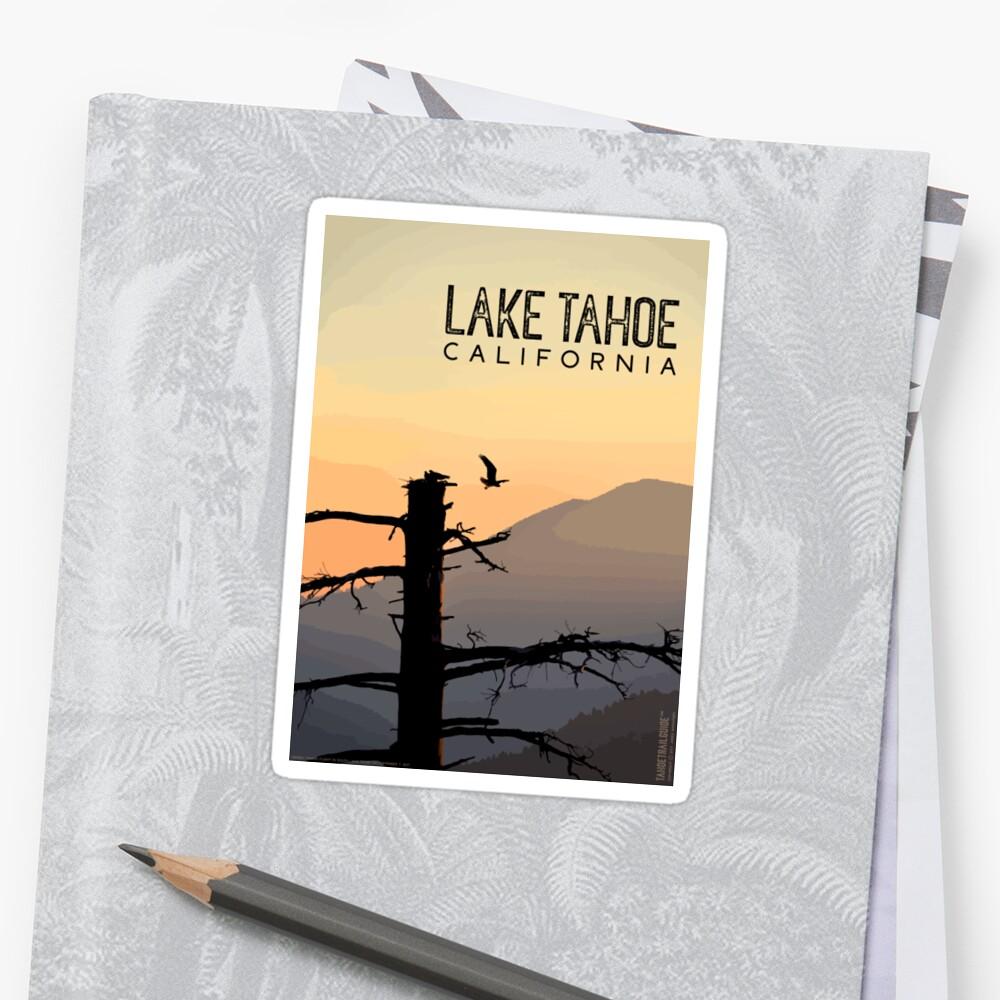 Osprey Takes Flight at Sunrise (Lake Tahoe, CA) Sticker