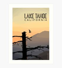 Osprey Takes Flight at Sunrise (Lake Tahoe, CA) Art Print