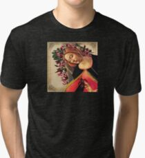 She Wore a Crown of Amaryllis Tri-blend T-Shirt
