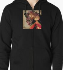 She Wore a Crown of Amaryllis Zipped Hoodie