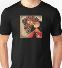 She Wore a Crown of Amaryllis Slim Fit T-Shirt